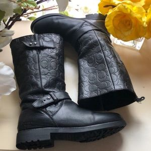 Leather Coach Valentine signature Boots!